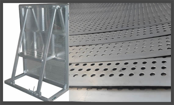 Perforated Metal Galvanized Steel City Construction Noise