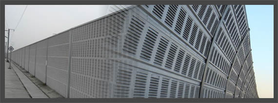 Perforated Aluminum Highway Barrier